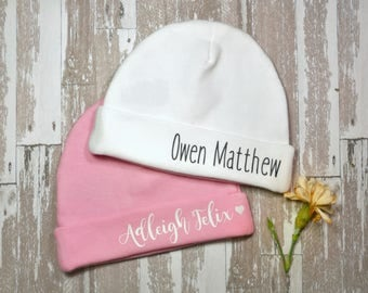 Baby Hat with Name, Personalized Baby Hat
