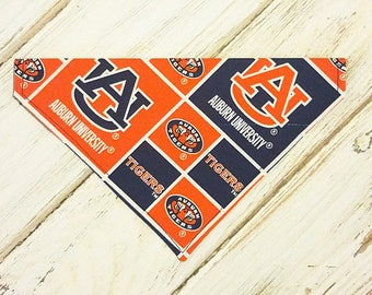 Auburn inspired Dog Bandana, Dog Scarf, no tie bandana, slip on bandana, pet bandana, doggy scarf , scarf for dogs