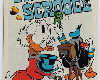 35+ year old, Walt Disney, Uncle Scrooge, 10 comics, # 225 to 236, 1970's, Gladstone, Near Mint. Condition.  1843a