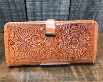 Mexico Tooled Leather Deluxe Wallet