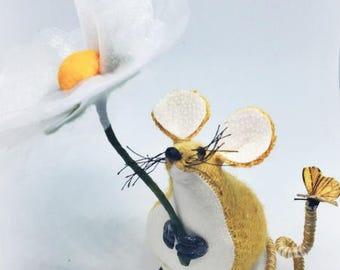 Yellow, Harris Tweed Mouse, tweed mouse