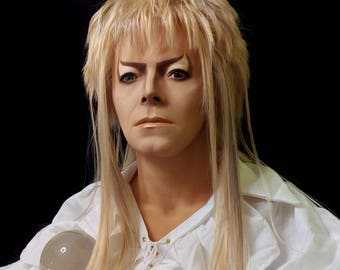 1:1 Lifesize Jareth Labyrinth David Bowie Bust Goblin King Figure Statue Prop