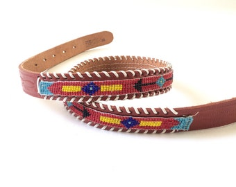 Vintage Skinny Beaded Belt