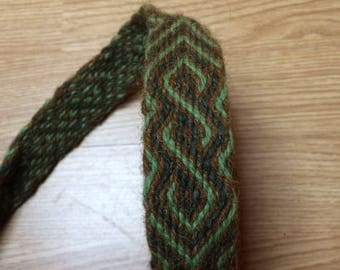 Ready for Shipping! Mammen Tablet Woven Braid (Belt, Trim) for Viking, Early Medieval Reenactment, 100% Natural Wool