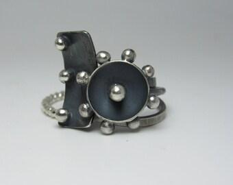 Funky Stacking Silver Ring Set