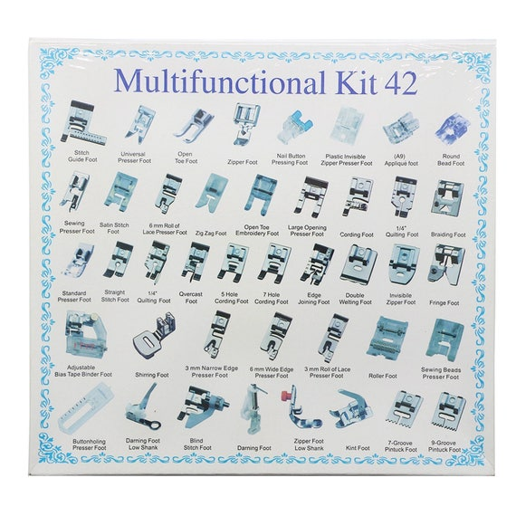 42 Pieces Sewing Machine Presser Feet Set Multifunctional