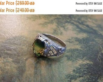 Holiday SALE 85 % OFF Tourmaline Quartz  Size 6  Ring Gemstone. 925 Sterling  Silver