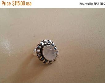 Holiday SALE 85 % OFF Moonstone  ring size 5.5 Sterling 925 Silver   Ring  Gemstone