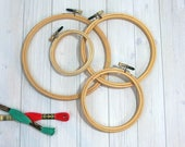 Edmunds Embroidery Hoops, Rounded Edge, Wood Hoops for Embroidery, Cross Stitch, Needlework, Hoop Art