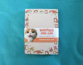 Cute Cat Kawaii Notepad Scottish Fold