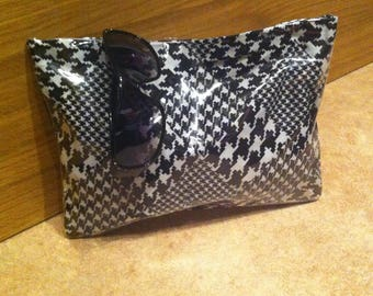 Summer pouch houndstooth diamond