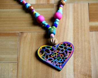 """""""My heart"""" necklace"""