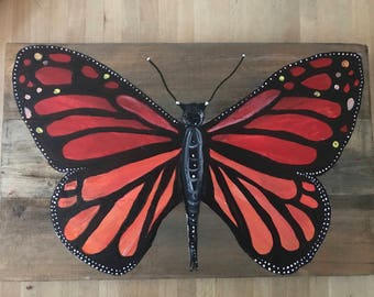 New Item!!!  butterfly on wood