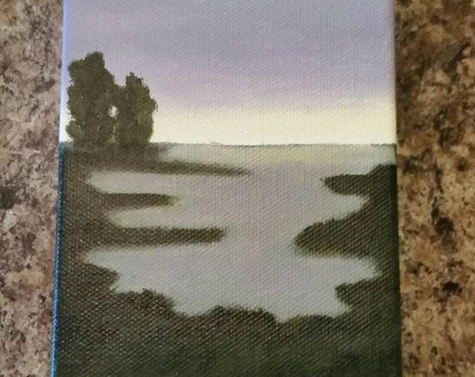 Marsh Sunset - Oil Painting