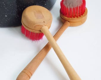 Wooden Long Handled Brushes / Unused Old / New Stock from 1952
