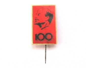 SALE, Lenin, Soviet badge, 100 years, Vintage collectible badge, Soviet Vintage Pin, USSR, 1970s