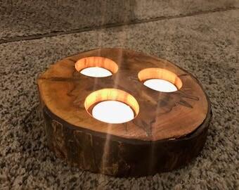 Tree Slice Tea Light Candle Holder