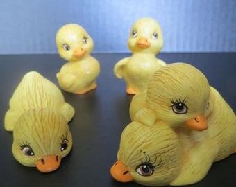 Ducklings Miniature- set of 4- ceramics