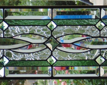 """Stained Glass Window Hanging 28 1/4 X 9 1/2"""""""