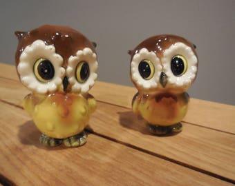 Vintage NORCREST Baby Owl Salt & Pepper shakers