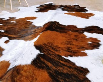 Vintage Patched Cow Hide Area Rug