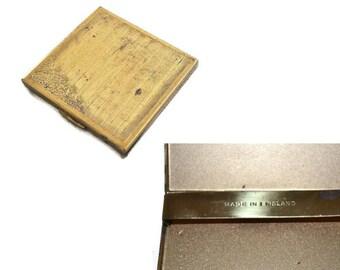 Vintage Cigarette Case // Gold Tone Cigarette Holder Made in England