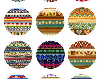726 # patterns Pop Vintage 12 Images/designs digital 30/25/20/18/16/15/14/12/10/8 mm cabochon round