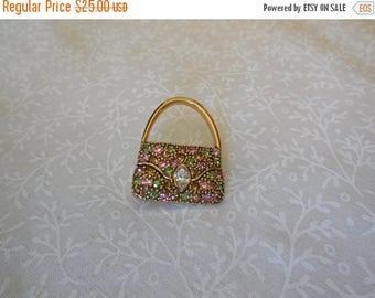 20% OFF SALE TRIFARI Handbag Rhinestone Brooch in Gift Box