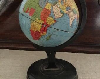 Vintage Tin World Globe
