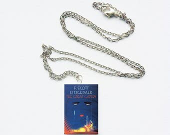 The Great Gatsby mini book necklace