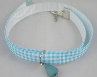 Bra027 - Double blue turquoise Bracelet