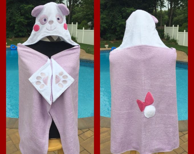 Panda Bear Hooded Towel Bath Wrap - Personalized