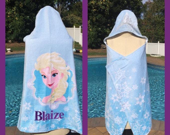 Disney's Frozen Elsa Hooded Bath Towel Wrap - Personalized