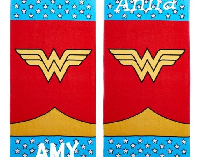 Wonder Woman logo BEACH Towel Personalized