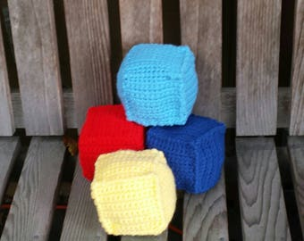 Soft baby Blocks in primary colors. Baby can learn colors. Chew away, then throw in the wash. Free shipping