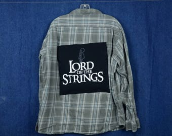 Upcycled Flannel Lord Of The Strings