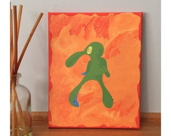 """Squidward Bold and Brash acrylic painting on canvas 8x10"""""""
