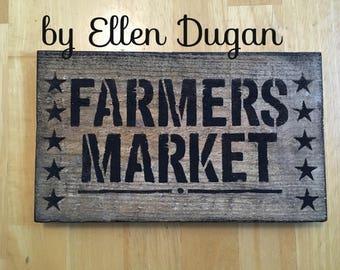 Farmers Market sign (Reclaimed Wood )