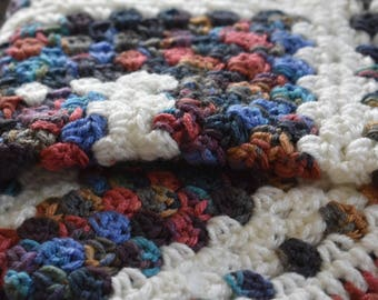 Earthy Granny Square Crochet Cat Mat