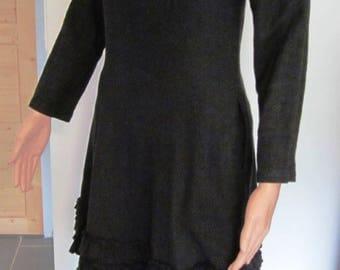 Wool dress with Ruffles