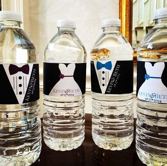 Wedding Labels For Gift Bags: Water Bottle Labels Wedding Wedding Welcome Bag Gift
