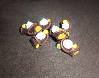 1 charm gourmet Mocha chocolate Christmas log