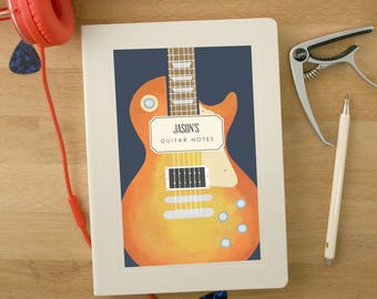 Personalised Electric Guitar Notebook