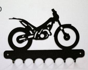 Hangs 26 cm pattern metal keys: motocross