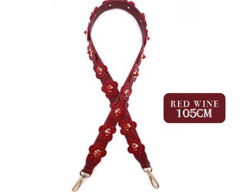 105 cm length 3.5cm width  Bag Strap Genuine leather Removable Purse Strap Interchangeable Strap Replacement Handle  SS005