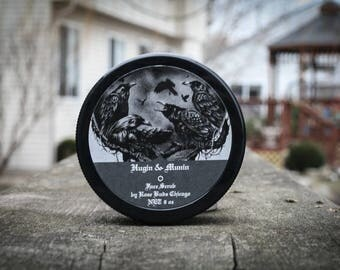 Hugin & Munin Viking  Charcoal Face Scrub - Gift for him or Gift for Her, Viking gift, Valentines day gift