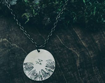 Stamped Forest Necklace