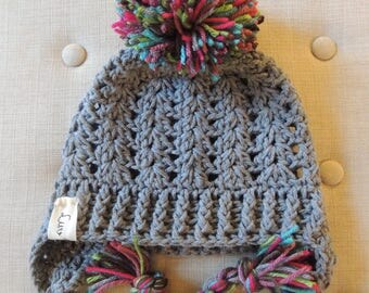 Crochet Hats, Luv Beanies, Stocking Hats, Girls Stocking hats, Girls Hats, Ski Hat, Winter hats for boys, Hat with Pom Pom, Elf Hats