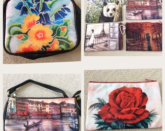 BAGS, ZIPPER POUCHES, Cosmetic bags, Makeup bags, Pencil cases, Hand Bag, Art Bags, Gifts for Her