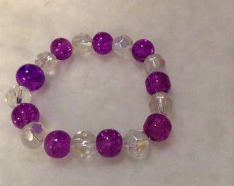 1 beautiful purple and bling  bracelet
